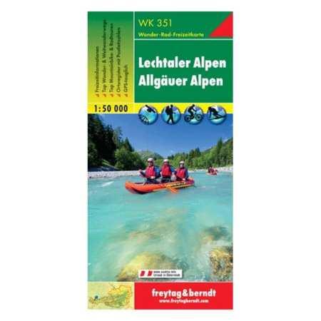 Lechtaler Alpen, Allgäuer Alpen turistatérkép