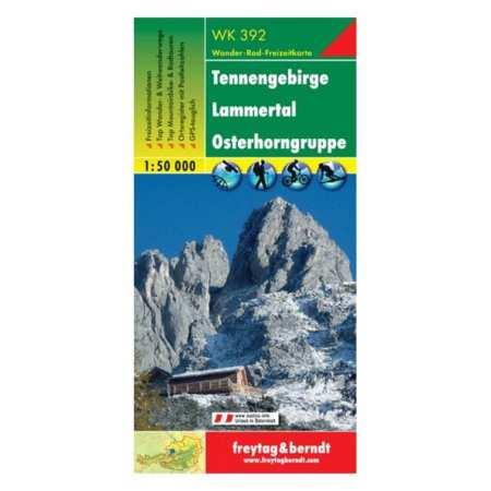 Tennengebirge, Lammertal, Gosaukamm turistatérkép