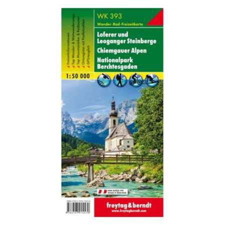 Loferer und Leoganger Steinberge, Chiemgauer Alpen, Berchtesgaden turistatérkép