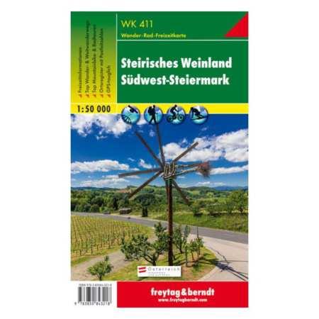 Steirisches Weinland, Südwest Steiermark turistatérkép