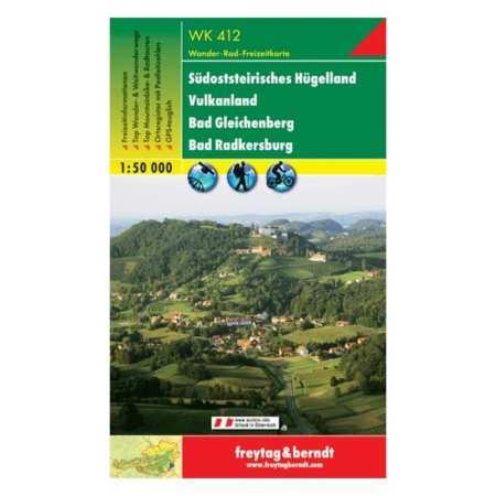 Südsteirisches Hügelland, Vulkanland, Bad Gleichenberg, Bad Radkersburg turistatérkép