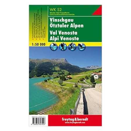 Vinschgau, Ötztaler Alpen turistatérkép