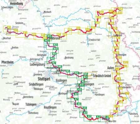 Alb-Neckar, Kraichgau-Hohenlohe, Hohenlohe-Ostalb kerékpárkalauz