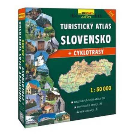 Szlovákia turistaatlasza + kerékpáros tematika, Turisticky Atlas Slovensko