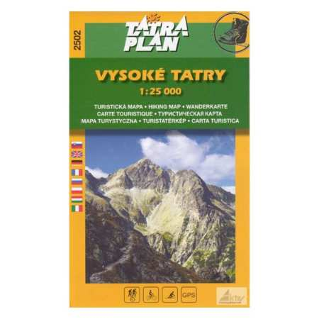 Magas Tatra Turistaterkep 1 25 000 Vysoke Tatry Tatra Plan