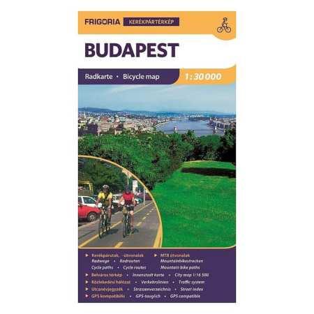Budapest Kerekparos Terkep Frigoria Kiado