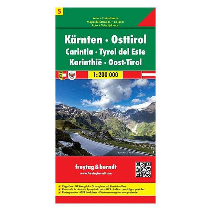 Ausztria Terkep 1 200 000 5 Karintia Kelet Tirol Freytag