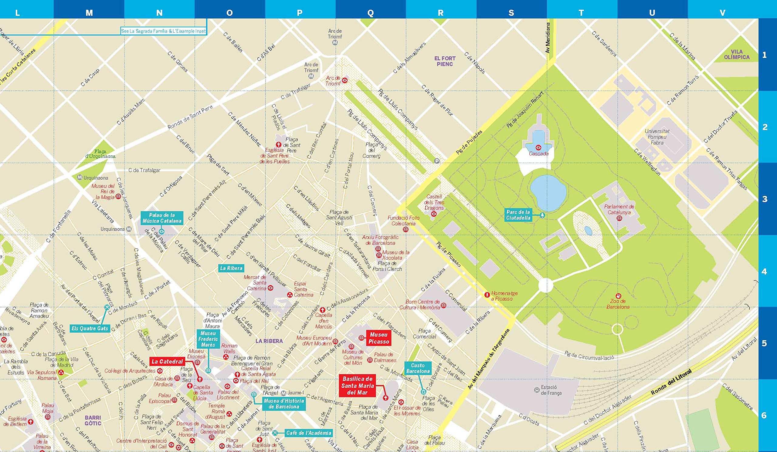 barcelona térkép Barcelona laminált térkép / Lonely Pla  FRIGORIA Könyvkiadó Kft.