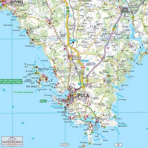 Horvat Tengerpart Eszak Terkep Kroatien Kuste Nord World Compact4