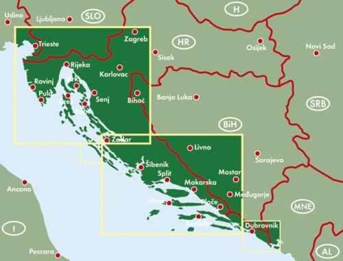 horvát tengerpart térkép Horvát tengerpart térkép / Isztria   Dalmácia   Dubrovnik