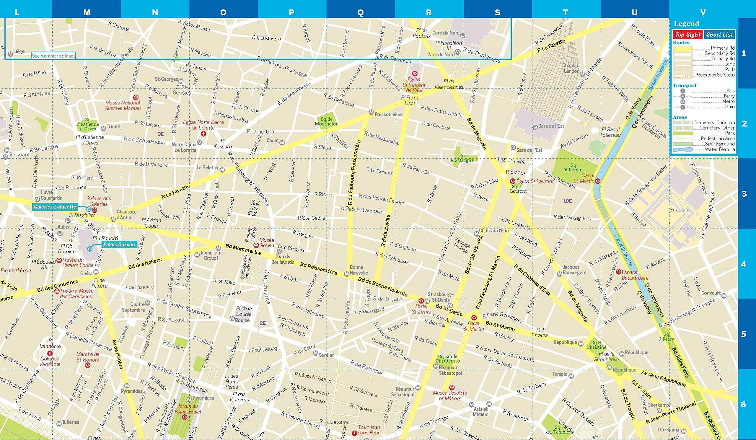 párizs térkép Párizs laminált térkép / Paris City Map / Lonely Pla  FRIGORIA